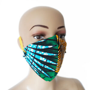 African Print Fabric Dome-Shaped 2-Tone Masks