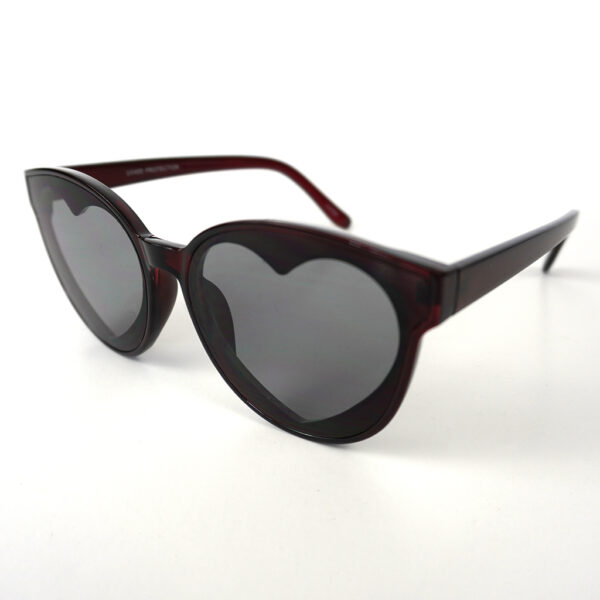 Black Color Interior Heart Shaped Designer Sunglasses