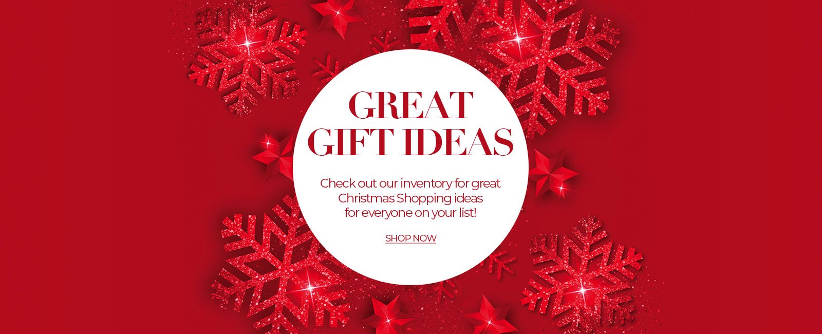 Great Gift Ideas banner for Shop Now link