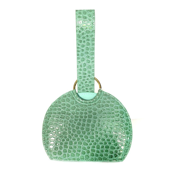 Toami Small Slim Dome Embossed Alligator Faux Leather Handbag - Mint